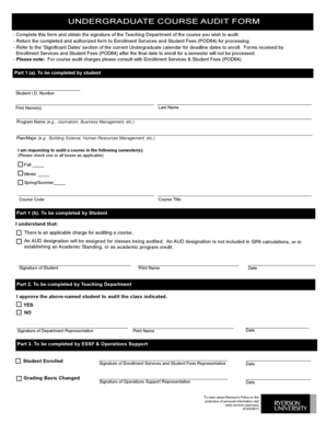 Audit de certification pdf printer