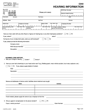 Wcb Form C042 - Fill Online, Printable, Fillable, Blank | PDFfiller