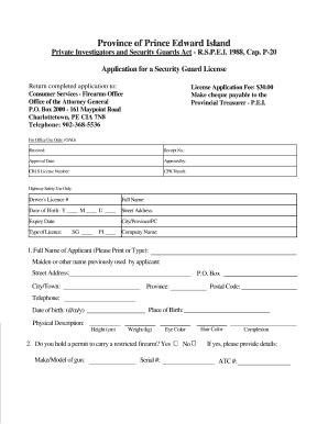 Arizona Security Guard Application Pdf Fillable - Fill Online ...