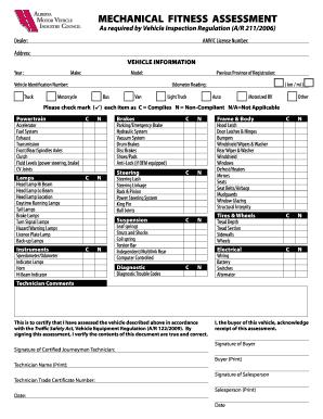 Captivating Mechanical Fitness Assessment Form