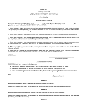 affidavit sample ontario form