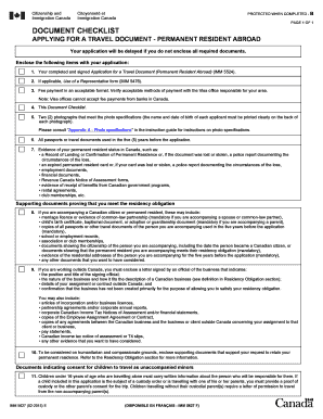 IMM 5627E : Document Checklist - Applying for a travel document ... - cic gc