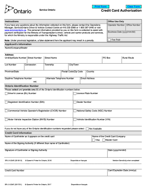 Credit Card Authorization Form Sr Lv 034 - Fill Online