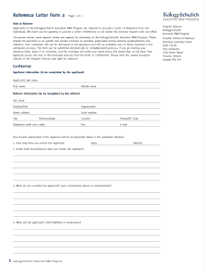 Fillable online reference letter form 2 kellogg schulich executive rate this form altavistaventures Gallery