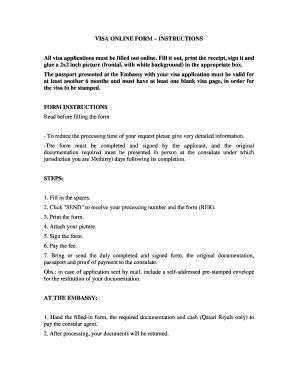 Brazil Embassy In Doha Visa Application Form Fill Online Printable Fillable Blank Pdffiller