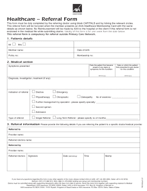 Axa Fillable Reimbursement Form For Qatar Fill Online Printable