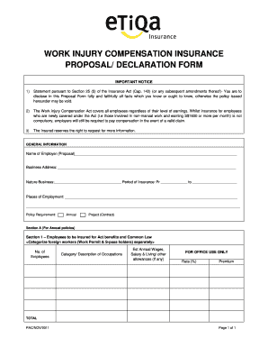 Great Insurance Proposal Form