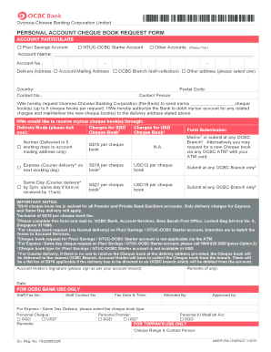 request for cheque book ocbc form