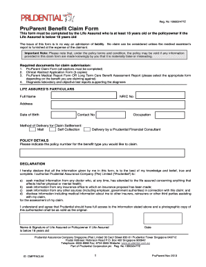 Medical Claim Form For Prudential