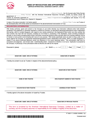 Delightful Aia Singapore Deed Of Release And Indemnity Form For Deed Of Release And Indemnity