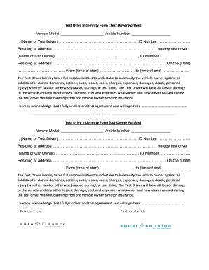 Test Drive Form - Fill Online, Printable, Fillable, Blank | PDFfiller