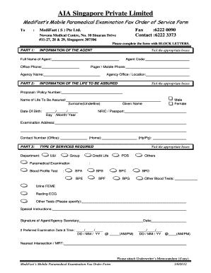 Fillable Online Paramedical Mobile Order Form (AIA).pdf - MEdifast ...