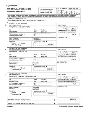 Fec Form 3x Fillable - Fill Online, Printable, Fillable, Blank ...