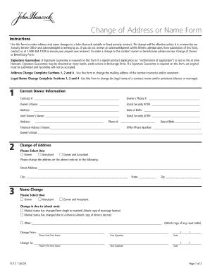 John Hancock annuity forms