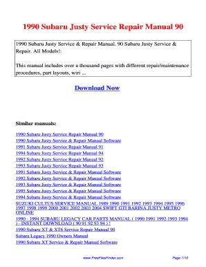 subaru alcyone svx 1995 repair service manual