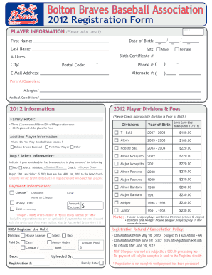 baseball sponsorship form template to Download in Word PDF