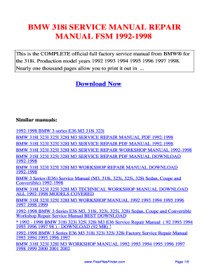 bmw 318i workshop manual free download