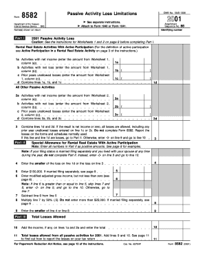 Tax Form 8582 Related Keywords & Suggestions - Tax Form 8582 Long ...