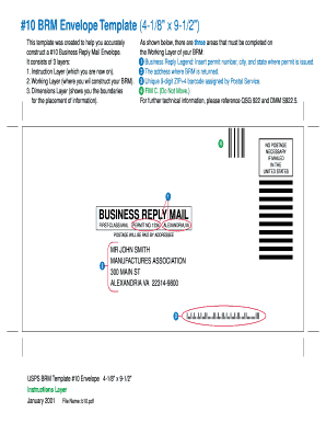 #10 envelope template fillable form