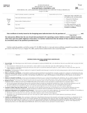 State Of Hawaii Law On Tax Exemption M38 - Fill Online, Printable ...