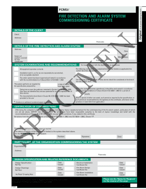 Fire Alarm Commissioning Certificate Pdf Fill Online