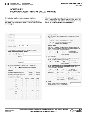 Imm 0008 Schedule 3 Form Fillable - Fill Online, Printable, Fillable Generic Application Form Canada Imm Guide on