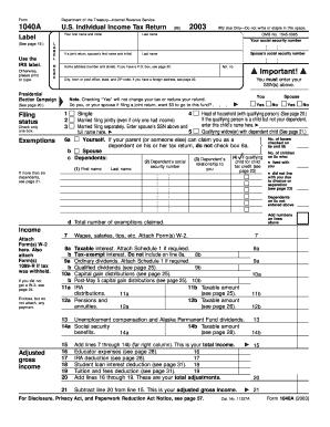 Form 1040a internal revenue service fax email print pdffiller