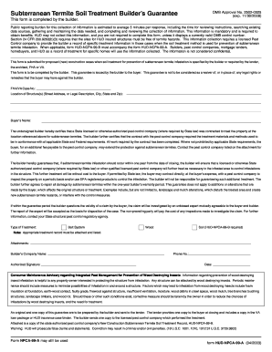 Termite Soil Treatment Form 99b Fill Online Printable