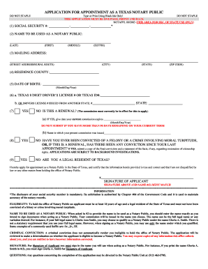 application for notary texas form