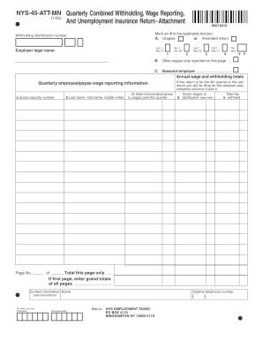 Nys 45 Att Mn Fill In Form - Fill Online, Printable, Fillable ...