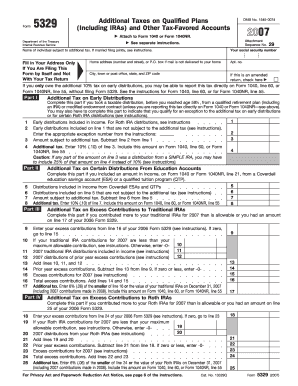 Fillable Online Form 5329 - Internal Revenue Service Fax Email ...