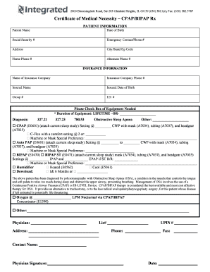 certificate of medical necessity form for bpap