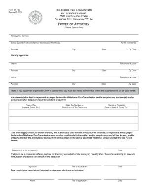 Bill Of Sale Form Oklahoma Statutory Power Of Attorney Form ...