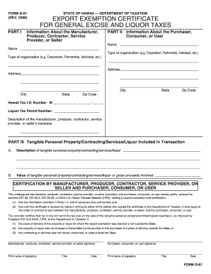 Hawaii general excise tax exemptions - Edit & Fill Out Top Online ...