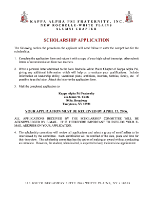 Letter of recommendation for scholarship forms and templates nrwp scholarship letter application kappa alpha psi spiritdancerdesigns Choice Image