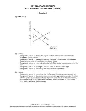 2007 Macroeconomics Form B Scoring Guidelines Fill Online Printable Fillable Blank Pdffiller