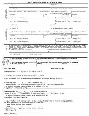 Printable steps to getting married in california Form to Submit