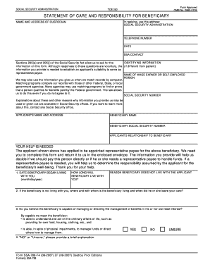 8 Sample Social Security Payee Forms - Fill Out Online Forms