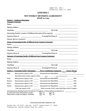 heco net agreement sample sheet form
