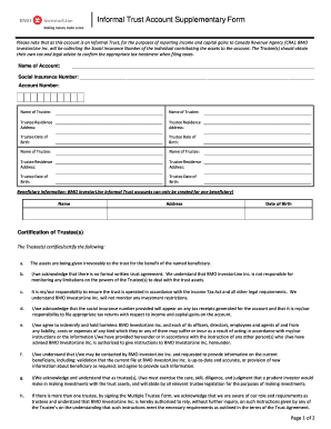Trust Certification Form For Bmo - Fill Online, Printable ...