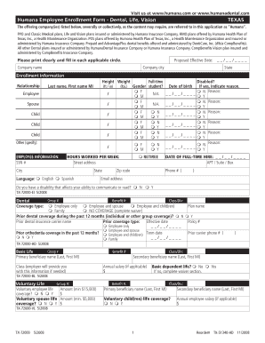 humana dental 1 ee form