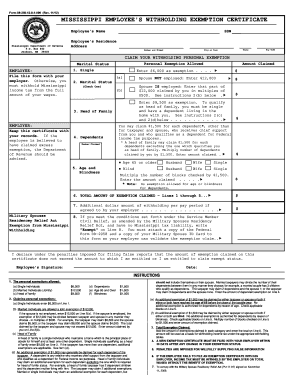 how to fill out employees withholding exemption in ms
