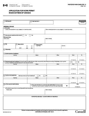 2011 Form Canada IMM 1295 Fill Online, Printable, Fillable, Blank ...