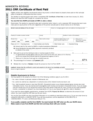 Crp Rent For Tax For California - Fill Online, Printable, Fillable ...