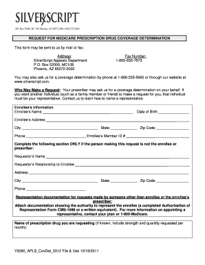silverscript prior authorization form Silverscipt Y0080 Approved - Fill Online, Printable, Fillable, Blank ...