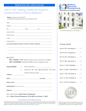 cra training certificate form