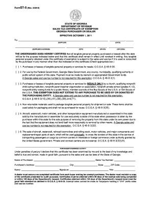 St 5 Form Ga - Fill Online, Printable, Fillable, Blank | PDFfiller
