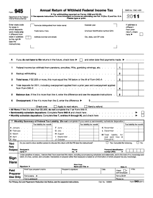 Irs Form 945 2015 - Fill Online, Printable, Fillable, Blank ...