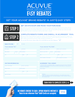 picture regarding Printable Rebate named Acuvuecom Fillable Rebate - Fill On the internet, Printable, Fillable
