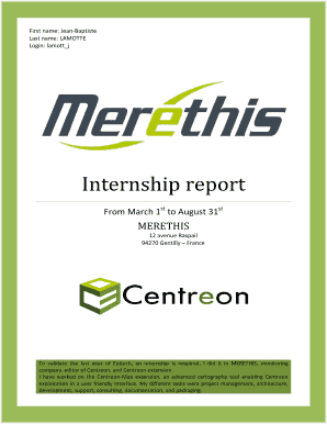 60 Printable Internship Report Forms and Templates - Fillable